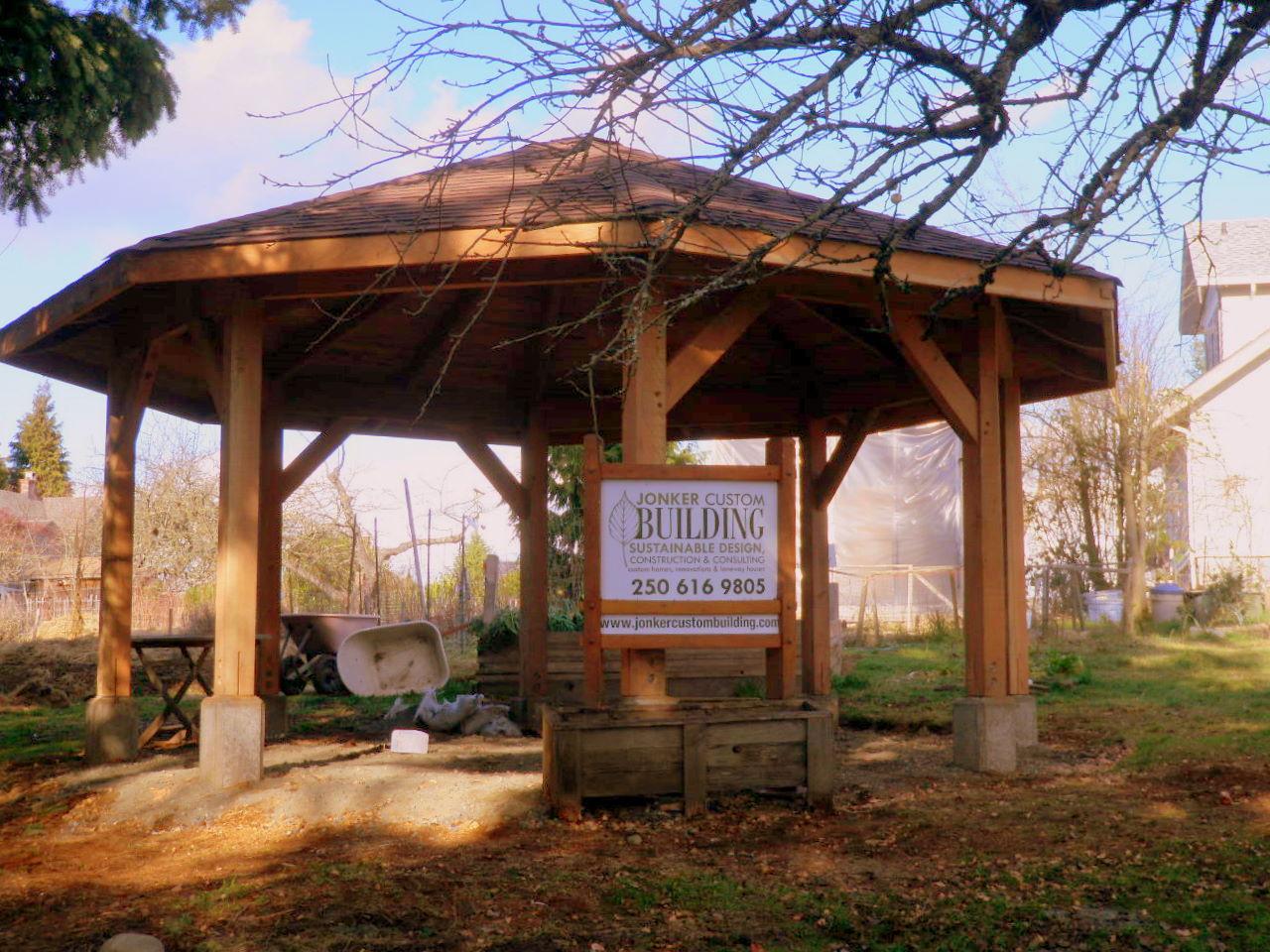 community garden bernita m fox memorial shelter timber framed gazebo